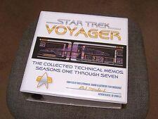 Star Trek Voyager 500+ Pages Tech Memos in Custom Binder