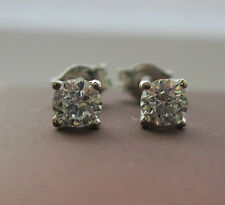 New 2/5 of a carat  .40ct Diamond 18ct White Gold Stud Earrings Freepost