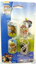 Paw Patrol 3 x DOG TAG set Beaded NECKLACE Chase Rubble Marshall Party Favors