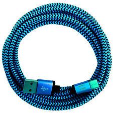 2m Nylon USB-C 3.1 Typ C Ladekabel Datenkabel für alle neuen USB-C Handys @ blau