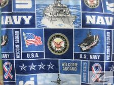 "MILITARY PRINT POLAR FLEECE FABRIC -  U.S. Navy - 60"" SOLD BTY - 372"