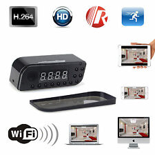 WIFI 720P HD IP Spy Camera Alarm Clock Motion Detection Hidden DVR Night Vision