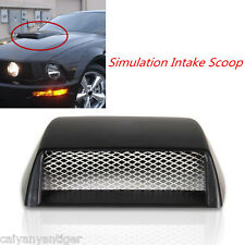 Universal Car Decorative Front Bonnet Hood Air Flow 3D Intake Scoop Vent Styling