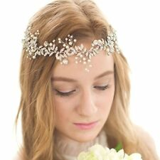 FAYBOX Handmade Crystal Rhinestones Wedding Head Band Bridal Hair Accessorie