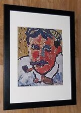 Framed 12''x16'', Maurice Vlaminck, Portrait of Derain, masters paintings