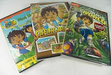Set 3 DVD Dora Explorer Meet Diego Safari Rescue Bugs World Photo Gallery Sealed