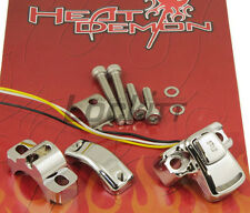 Heat Demon Under Grip Heaters Metric Motorcycle Chrome Controller