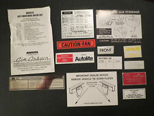 1971 FORD MUSTANG or MACH 1 DECAL TAG KIT