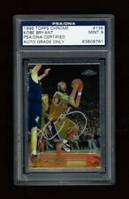 1996 TOPPS CHROME KOBE BRYANT AUTO SIGNED RC # 138 PSA/DNA SLAB COA PANINI