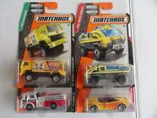 MATCHBOX FIRE DESERT THUNDER V16 & OTHER EMERGENCY VEHICLES SET OF 4 # 39