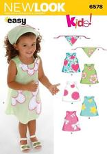 NEW LOOK SEWING PATTERN TODDLER DRESS & HEAD SCARF SIZE 1/2 - 4   6578 SALE