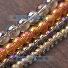 New 30pcs 10mm Electroplating Crystal Glass Round Loose Spacer Beads Mixed