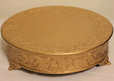Grand Wedding Matte Gold Round Cake Stand Plateau 21 Inch