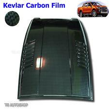 Black Kevlar Hood Scoop Vent Bonnet Cover Fit Ford Ranger T6 Mk1 XLT 2012-2015