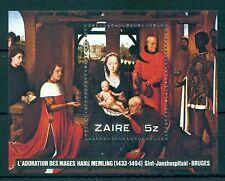 CONGO-ZAIRE *1979 * S/Sheet  MNH** Christmas - Paintings - Mi.No BL30