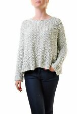 Free People Women's Everlasting Round Neck Oversize Sweater Mint RRP £103 BCF610