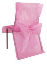 Housse de chaise avec noeud Rose x10