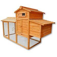Poulailler / Clapier / Cage à lapin XXL en bois / Cabane pour poule avec pondoir