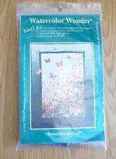 "Whims Watercolor Wonder Quilt Kit - Butterflies are Free - 15"" x 30"" 1996 NEW"
