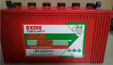 Exide Invared Tubular IR100+ 100 AH Inverter UPS Battery - 24 Month Warranty