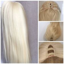 U part Wig Soft Blonde Straight Long hair 200g Side Centre Part Premium Quality