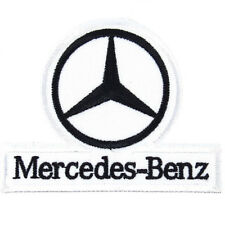 Mercedes Benz Embroidered Patch Embroidery Racing Emblem Mark 75x60mm White