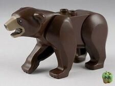 LEGO - Minifig Animal, Bear with Dark Tan Muzzle Pattern - Dark Brown