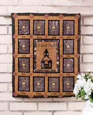 """SCHOOL DAYS PHOTO QUILT WALLHANGING FABRIC PICTURE HOLDERS 23"""" X 18"""""""