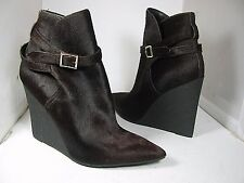 sz 9.5-10/40 NEW BURBERRY Prorsum brown Calf Hair Wedge Booties Boots