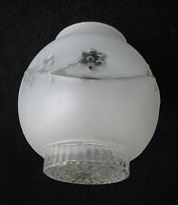 """Porch Kitchen or Bathroom Glass Shade - 3 1/4"""" Fitter (Round, Grapes, Vines)"""