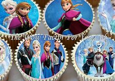 DISNEY FROZEN EDIBLE RICE PAPER BIRTHDAY PARTY FAIRY CUPCAKE CAKE TOPPPERS X 48