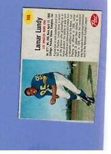 1962 POST CEREAL FOOTBALL 166 LAMAR LUNDY LOS ANGELES RAMS   VN 123