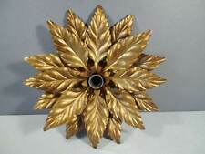 Vintage Italian Lamp Florentine Gold-colored leaves