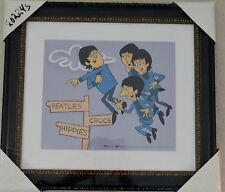 THE BEATLES IN AIR PICTURE ANIMATION LIMITED EDITION SERICEL COA FRAMED NIB