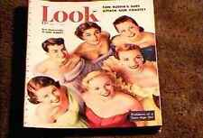 LOOK MAGAZINE 1950 APR 11 FINE+ FILE COPY FASHION BEAUTY VINTAGE ADS