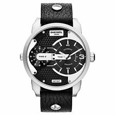 New Diesel Men 46mm Mini Daddy Dual Time Strap Watch DZ7307 $250