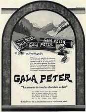 PUBLICITE GALA PETER CHOCOLAT VEVEY SUISSE MONTAGNE DE 1926 FRENCH AD ADVERT PUB