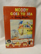 Enid Blyton Noddy Goes to Sea Illustrated Children's Hardcover / Jacket 1959