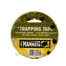 Everbuild Mammoth cerclage bande 50mm x 25mtr bidirectionnelle force