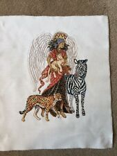 Finished Completed Cross Stitch Angel Of Africa Barbara Baatz