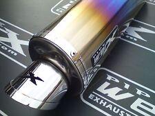 Honda Cbr 1000 Rr 2008 -2013 08-13 Color Titanio Oval silencioso de escape puede Sl