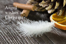 Rustic Angel Feather Christmas Card for Special Best Friend, Wife, Daughter