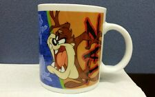 1998 Looney Tunes TAZ ceramic cup mug sketches and pictures of Taz