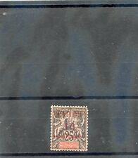 TAHITI Sc 30(YT 31)**VF NH 1903 10c/25c BLACK/ROSE, CARMINE OVERPRINT, $70