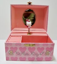 VTG Hello Kitty Wind Up Animated Music Jewelry Box Sanrio Favorite Things Pink