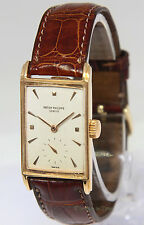 Patek Philippe Vintage 18k Rose Gold Manual Windup Mens Watch