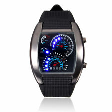 Men's Fashion Digital LED Date Sport Watches Stainless Steel Wrist Watch Black