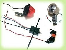 NEW CUSTOM 12 Volt AC/DC BRIGHT LED Light System For Motorized Bicycles/Mopeds