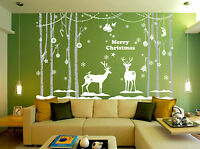 Hand Carving Christmas Decoration Shop Window / Wall Stickers UK RUI21