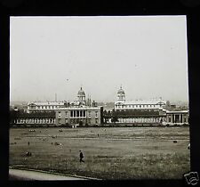 Glass Magic Lantern Slide LONDON NAVAL COLLEGE GREENWICH C1910 LONDON